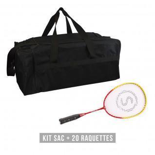 Kit raquettes (sac + 20 raquettes) enfant Sporti France School 53