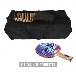Kit raquette (sac + 20 raquettes) Sporti France Shooter