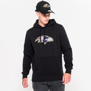 Sweat à capuche New Era avec logo de l'équipe Baltimore Ravens