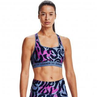 Brassière femme Under Armour Mid Crossback Print Sports