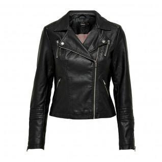 Veste femme Only Gemma imitation cuir biker