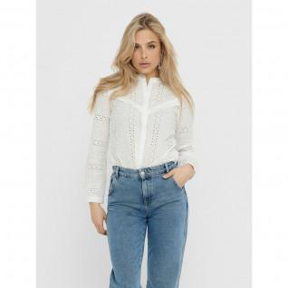 Haut femme manches longues Only Miriam emb anglaise