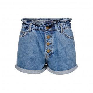 Short en jeans femme Only Cuba life paperbag
