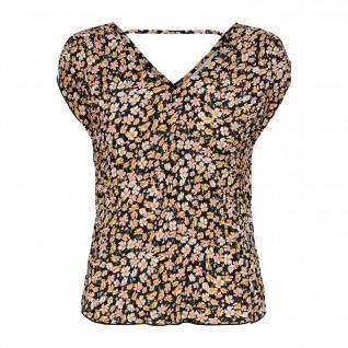 T-shirt femme Only onlfuchsia plisse wovens
