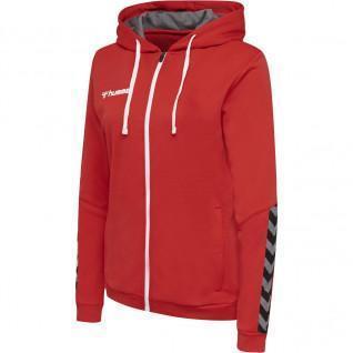 Sweatshirt femme Hummel zip Authentic Poly