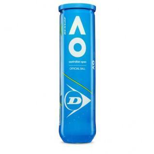 Balles de tennis Dunlop open d'Australie 4 pet