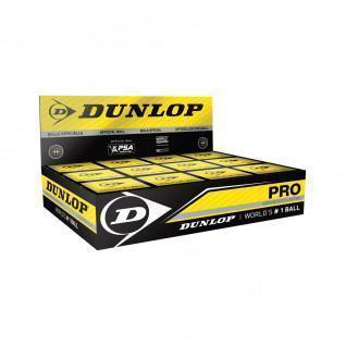 Lot de 12 balles de squash Dunlop pro