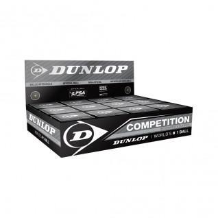 Lot de 12 balles de squash Dunlop competition