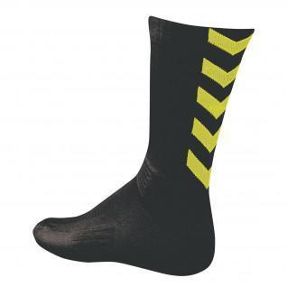 Chaussettes Hummel Authentic indoor noir/jaune fluo