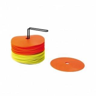 Kit de 24 disques avec support (12 jaunes + 12 orange)