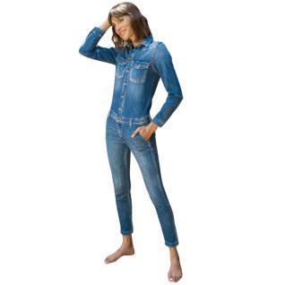 Combinaison en jeans femme Le temps des cerises