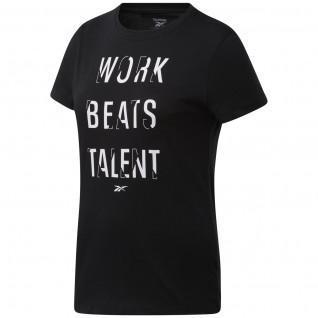 T-shirt femme Reebok Work Beats Talent Graphic