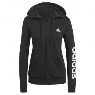 Sweatshirt zippé à capuche femme adidas Essentials Logo