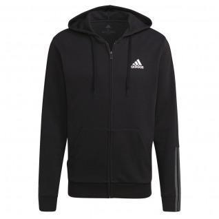 Sweatshirt à capuche adidas Essentials Doubleknit Cut 3-Bandes Full-Zip