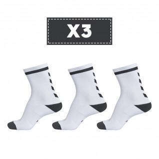 Lot de 3 paires de chaussettes claires Hummel Elite Indoor Low