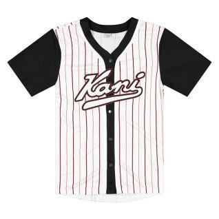 T-shirt Karl Kani Varsity Block Pinstripe Baseball