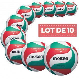 Lot de 10 ballons de compétition Molten V5M4500