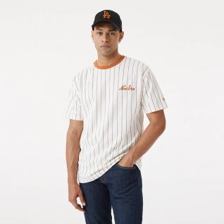 T-shirt New era oversized pinstripe