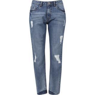 Pantalon femme Urban Classics jean denim boyfriend